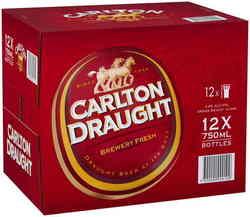 CARLTON DRAUGHT 750ML BTL 12PK