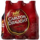 CARLTON DRAUGHT 375ML STUBBIES 6 PACK