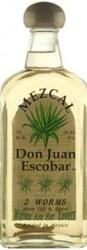 DON JUAN ESCOBAR MEZCAL 2 WORM TEQUILA 200ML - 5 BTLS LEFT ONLY!