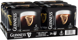 GUINNESS DRAFT CAN 440ML 24PK