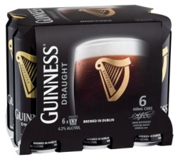 GUINNESS DRAUGHT 440ML CANS 6PK