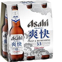 ASAHI SOUKAI 3.5% 330ML STUBBIES 6PK