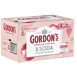GORDONS PINK GIN AND SODA STUBBIES