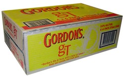 GORDONS GIN AND TONIC WITH LEMON CAN
