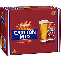 CARLTON MID 375ML CANS 30PK