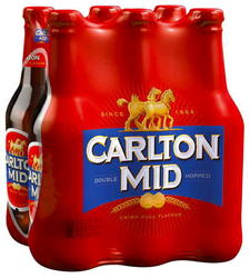 CARLTON MID 375ML STUBBIES 6PK