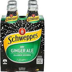 SCHWEPPES DRY GINGER ALE 330ML 4PK - MIXERS - SOFT DRINKS