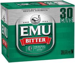 EMU BITTER 375ML 30PK CANS