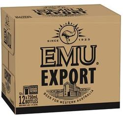 EMU EXPORT 750ML BTL 12PK