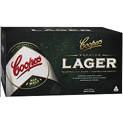 COOPERS LAGER 375ML STUBBIES - GO INTO THE DRAW TO WIN A COOPERS DARTBOARD