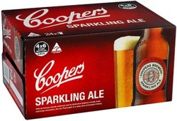COOPERS SPARKLING ALE 375ML STUBBIES - GO INTO THE DRAW TO WIN A COOPERS DARTBOARD