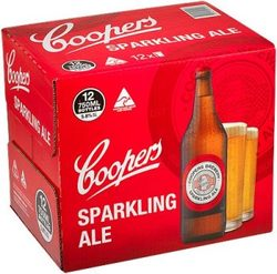 COOPERS SPARKLING ALE 750ML BTL 12PK - GO INTO THE DRAW TO WIN A COOPERS DARTBOARD