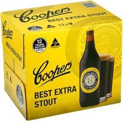 COOPERS  STOUT BTL 750ML 12PK