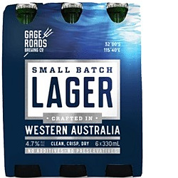GAGE ROADS SMALL BATCH LAGER 330ML STUBBIES- ONLY 3 CARTONS LEFT