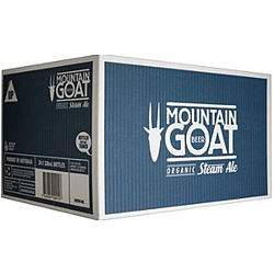 MOUNTAIN GOAT ORGANIC STEAM ALE 330ML STUBBIES