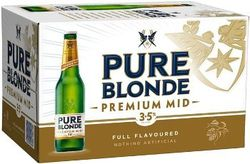 PURE BLONDE PREMUIM MID 355ML STUBBIES
