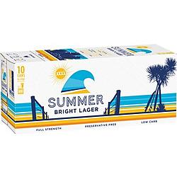 XXXX SUMMER 330ML CANS 10PK