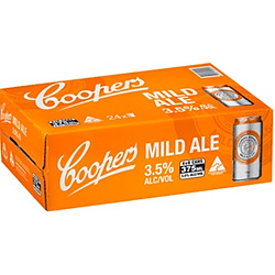 COOPERS MILD 375ML CANS - GO INTO THE DRAW TO WIN A COOPERS DARTBOARD
