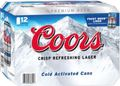 COORS 355ML CANS 12PK