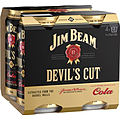 JIM BEAM DEVILS CUT AND COLA CANS 4PK