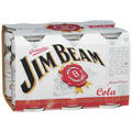 JIM BEAM WHITE AND COLA CAN 6PK