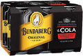 BUNDABERG AND COLA CANS 6 PACK