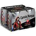 CAPTAIN MORGAN AND COLA 9% 250ML 4PK CAN