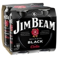 JIM BEAM BLACK & COLA 4PK CAN