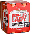 BEARDED LADY + COLA 7% 250ML CAN 4PK - PLUS 1 FREE CAN!