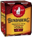 BUNDABERG  COLA OP 9%  200ML 4PK