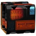 BULLEIT AND COLA 6% CANS 4PK + 1 CAN FREE!